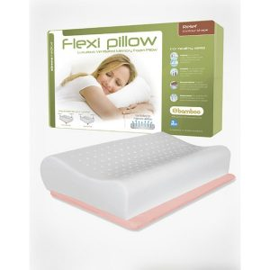 Pillow, Flexi Relief Contour, Neck pain, Shop, Headaches, Memory foam, Latex pillow, snoring, bamboo pillows, osteopath, valued health osteopathy, Osteopath Bentleigh East